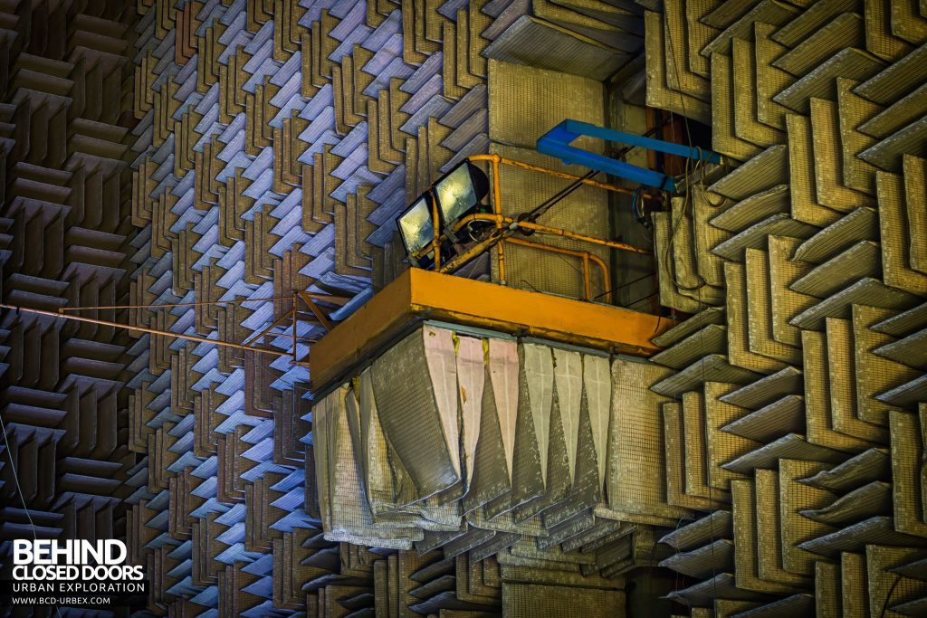 NGTE Pyestock Anechoic Chamber - One of the three retractable observation platforms
