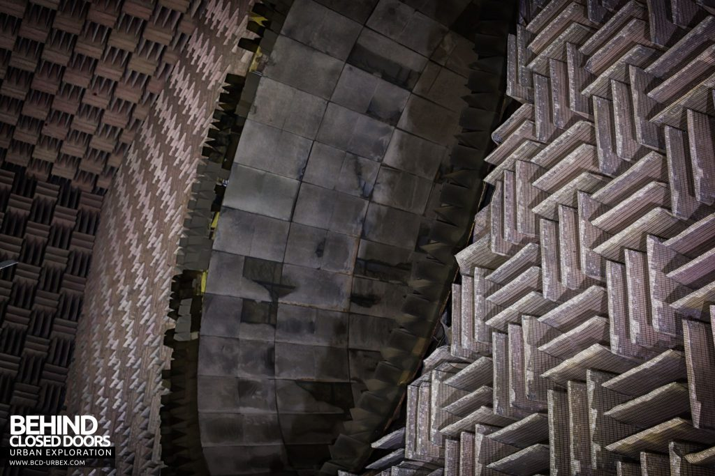 NGTE Pyestock Anechoic Chamber - The exhaust collector