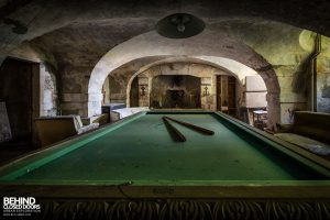 Abandoned French Chateau - Snooker Table