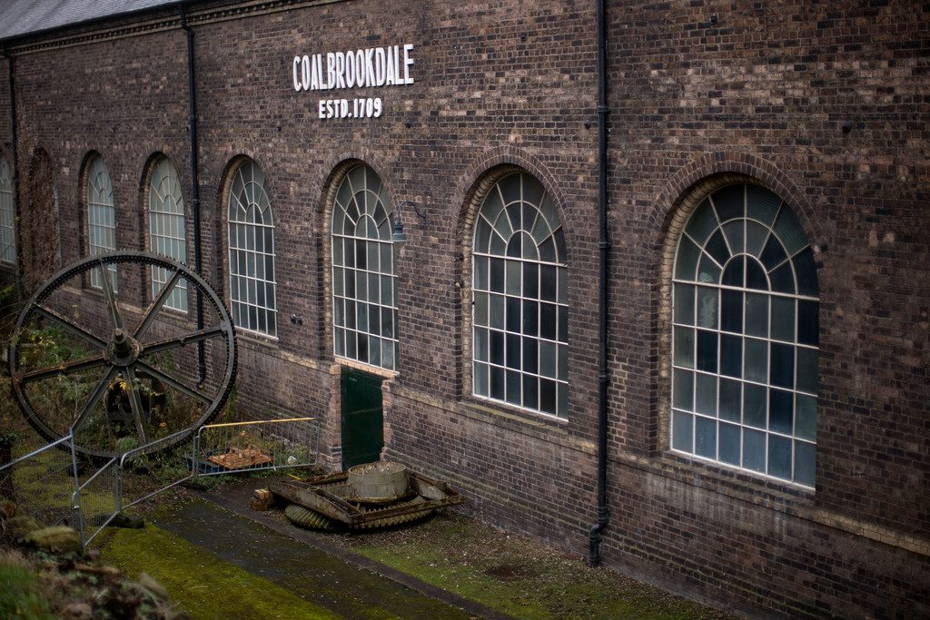 The Coalbrookdale Foundry - this area has since been converted into a museum