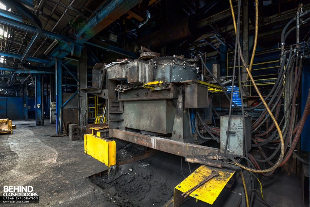 Coalbrookdale Foundry - Casting machine, where the molten iron is pored into