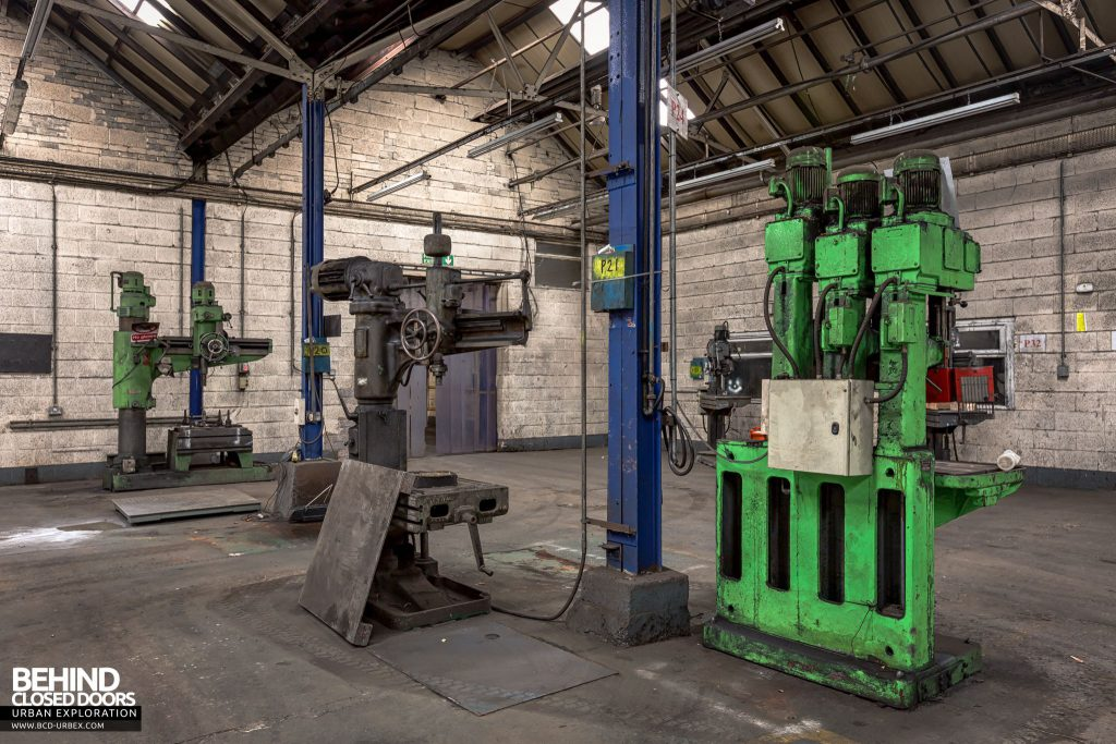 Coalbrookdale Foundry - The workshops shop contained a handful of machines