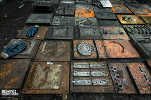 Coalbrookdale Foundry - Patterns laid out on the floor
