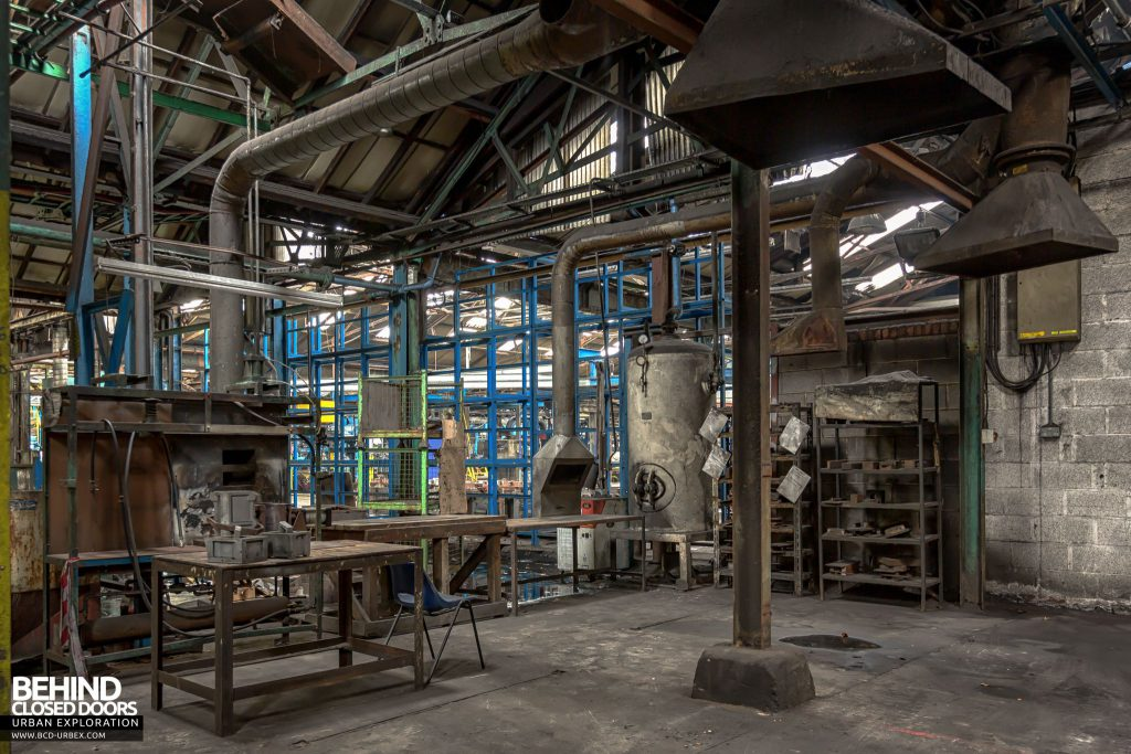 Coalbrookdale Foundry - Extraction hoods in an old part of the site