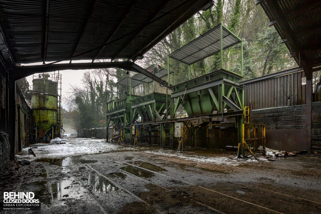 Coalbrookdale Foundry - Delivery yard, where the raw materials and scrap iron arrive