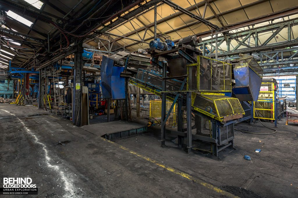 Coalbrookdale Foundry - The main casting shop contains a fair bit of automated casting equipment