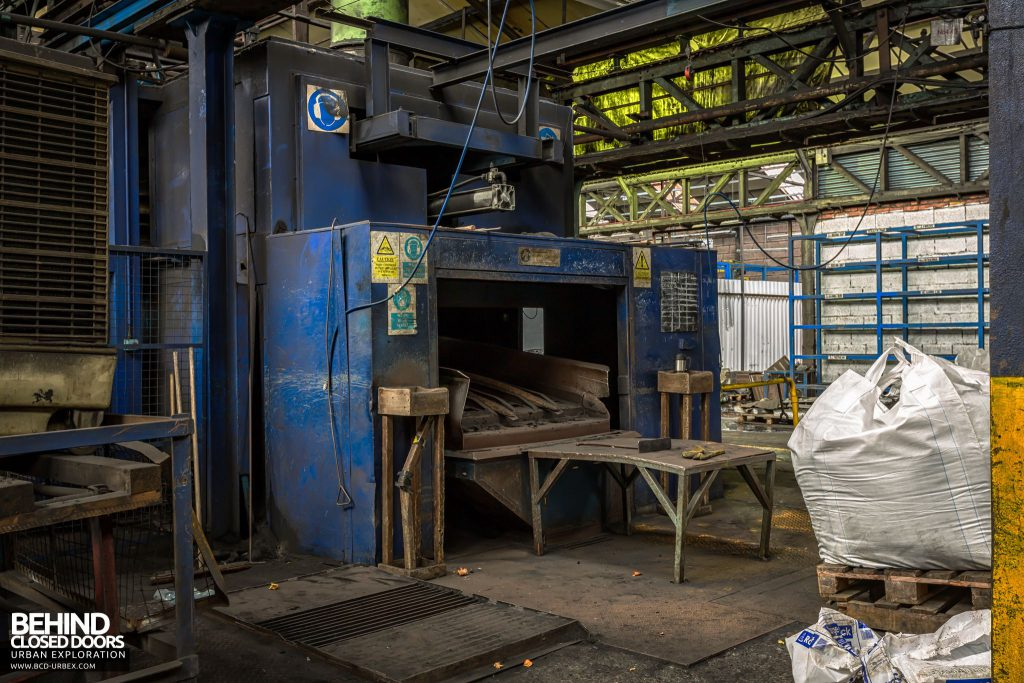 Coalbrookdale Foundry - End of the casting line