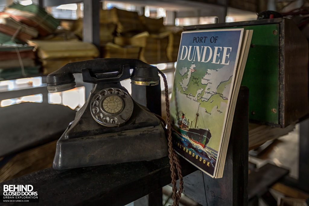 Harbour Chambers, Dundee - Old telephone and a Port of Dundee Official Handbook from 1952