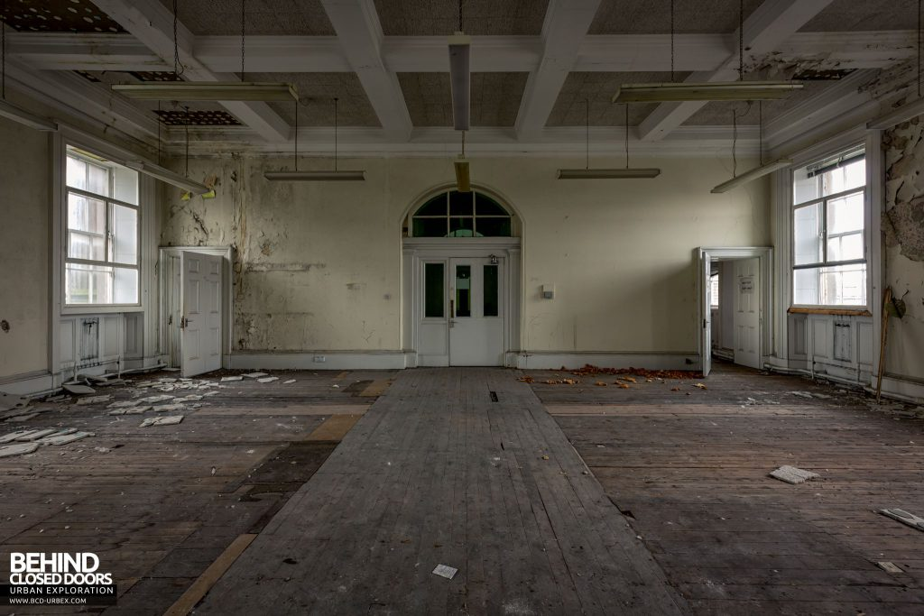 One of the stripped out rooms in Custom House