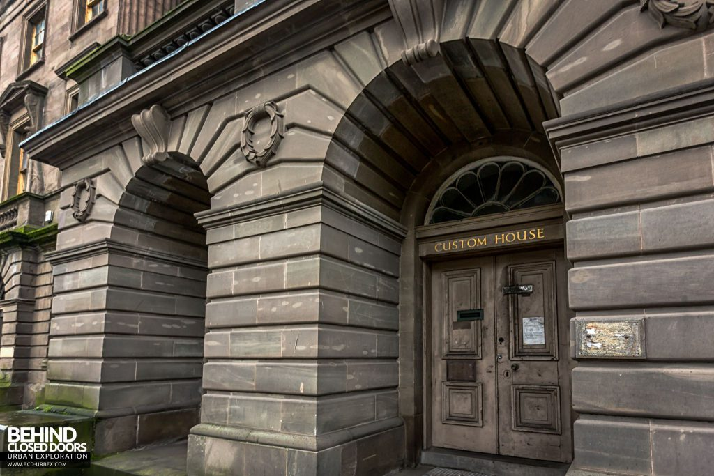 The entrance to Custom House