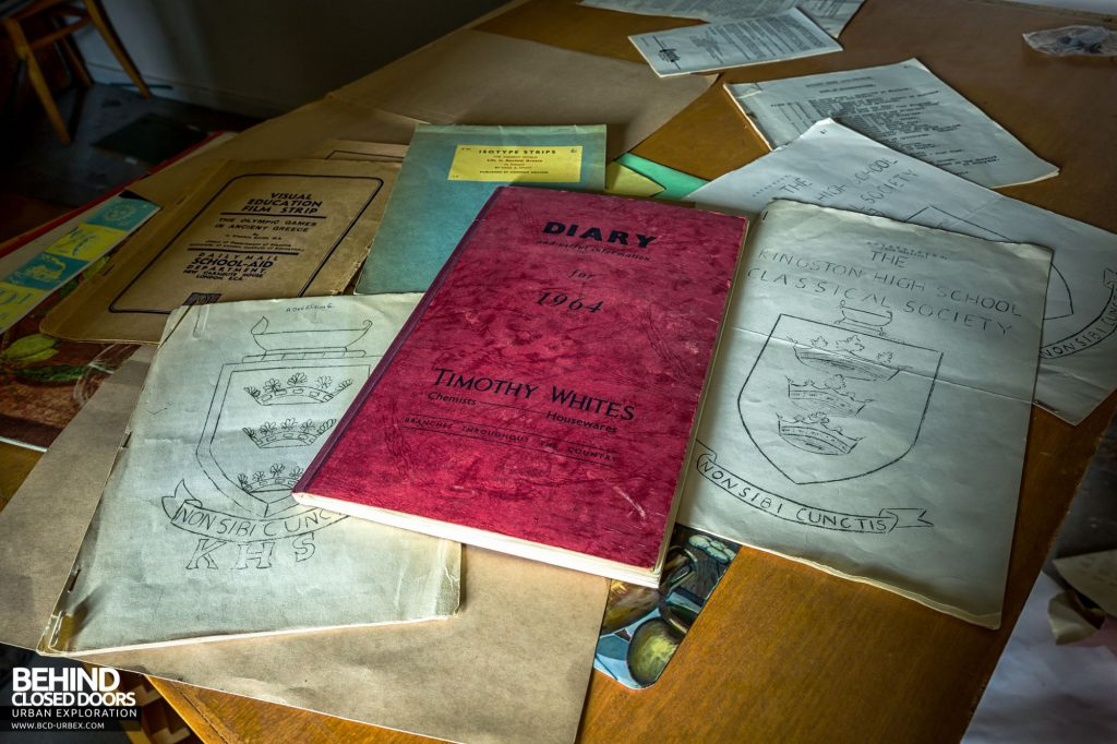 Jordanhill College, Glasgow - Books and diaries from the 1960s