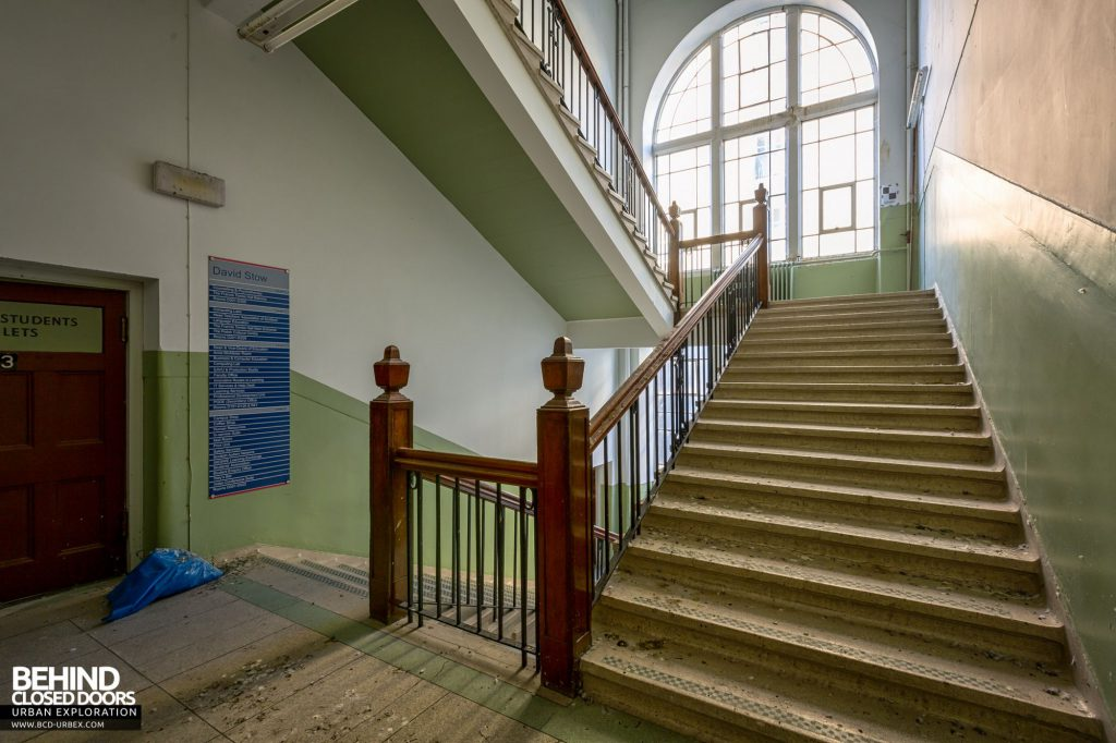 Jordanhill College, Glasgow - Rear staircase