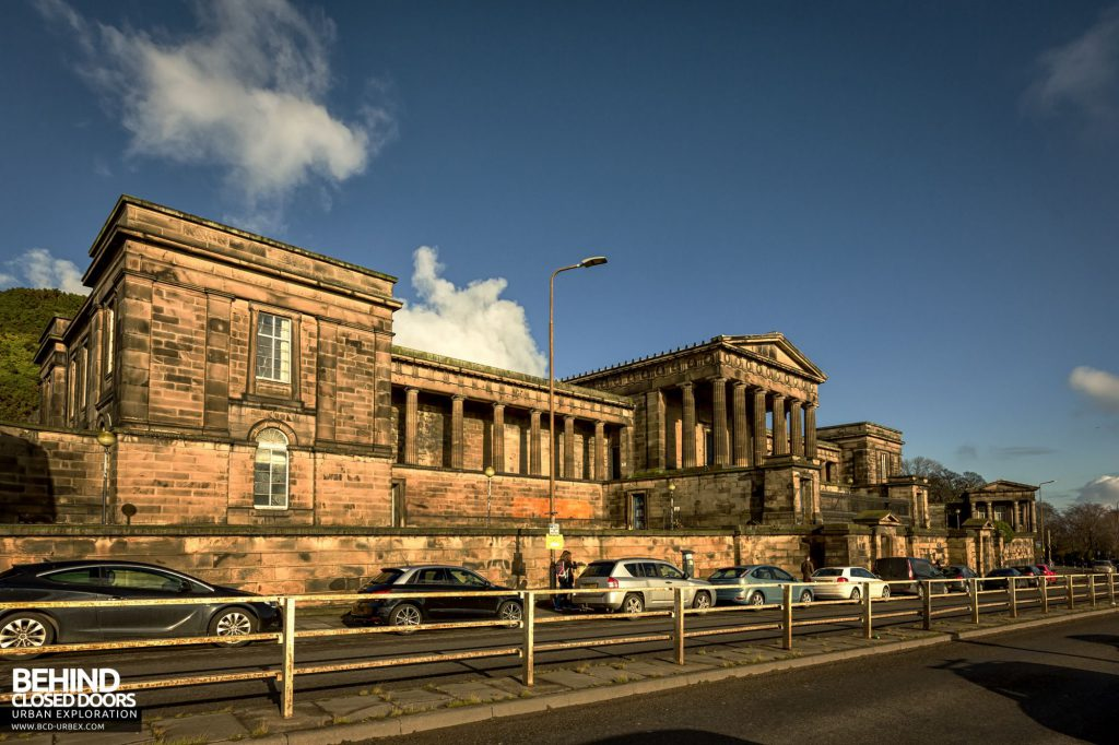 Old Royal High School / Parliament House - The grand Neoclassical frontage of the building