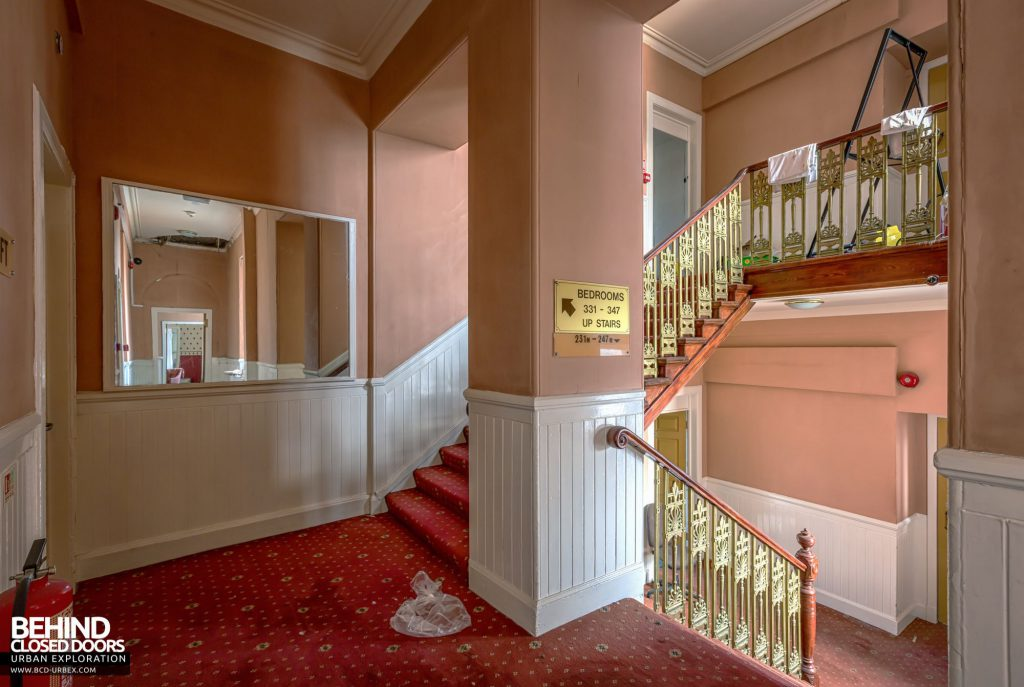 Station Hotel, Ayr - Heading upstairs into the hotel rooms