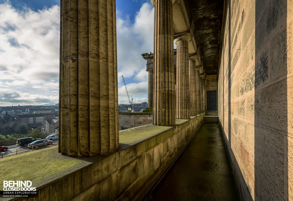 Old Royal High School / Parliament House - Behind the columns