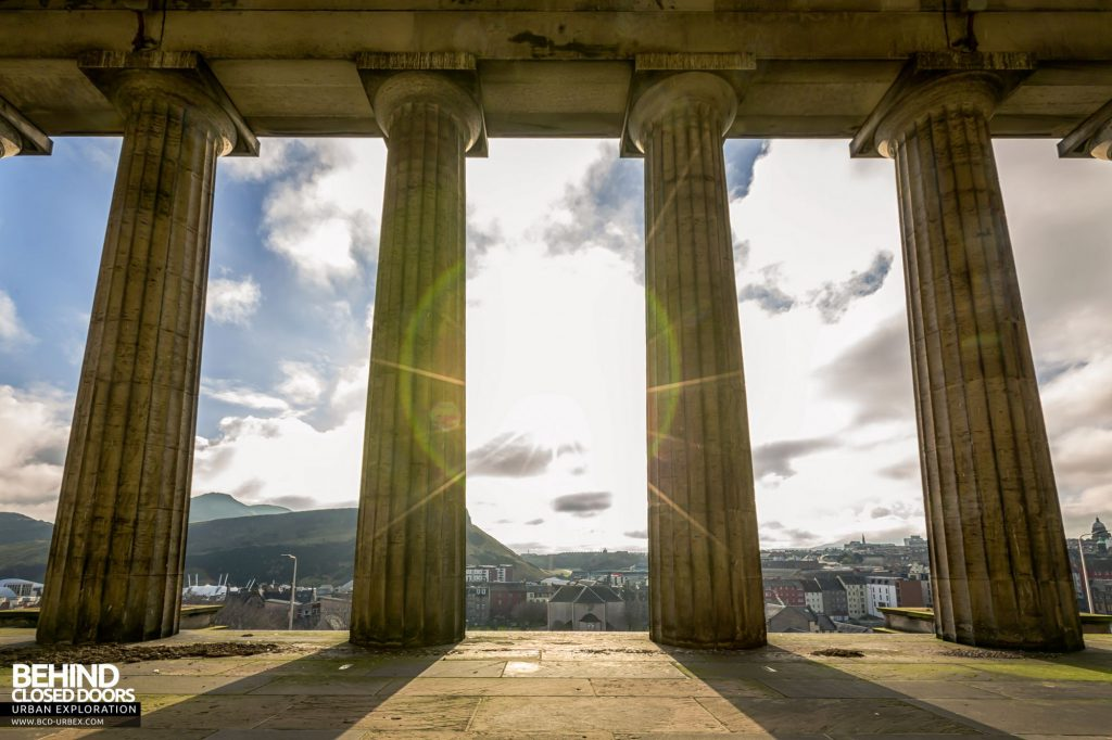 Old Royal High School / Parliament House - Behind the central columns