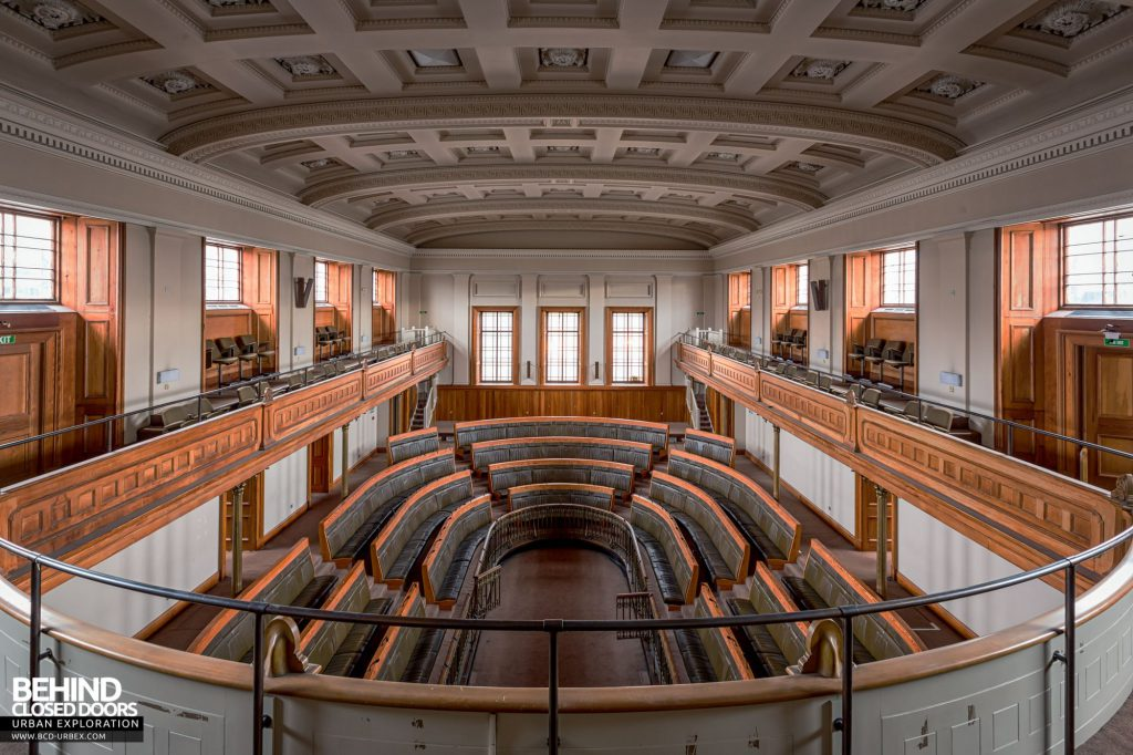 Old Royal High School / Parliament House - The debating chamber from the balcony
