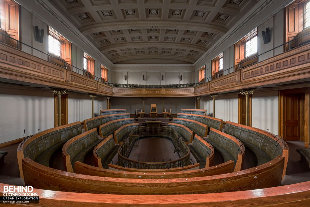 Old Royal High School / Parliament House - The assembly hall was converted refitted as a debating chamber for the Scottish Parliament