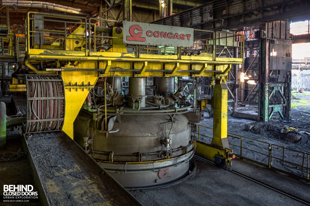 Duferco La Louvière - Arc Furnace in the Concast plant