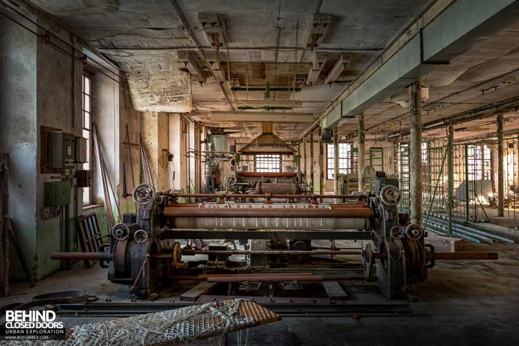 Anderl Textile Mill - Another view of the finishing machine