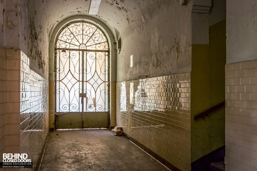 Manicomio Di Voghera - The decorative ironwork doubles as a security measure to hinder the escape of patients