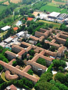 Aerial view of the asylum at Voghera