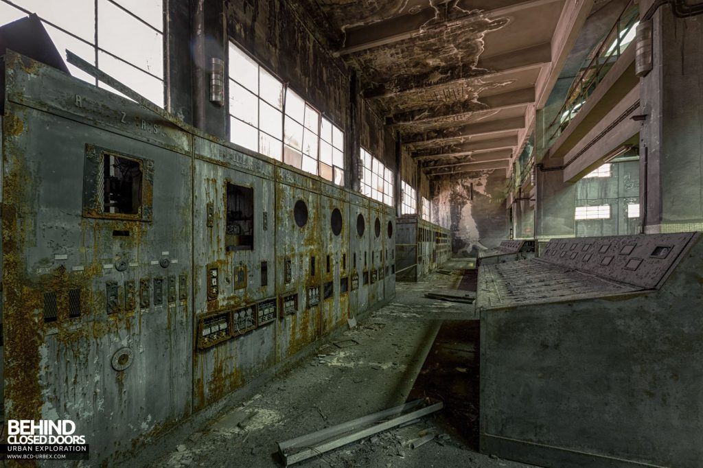 Italian Power Plant - The control room had been out of use for a long time