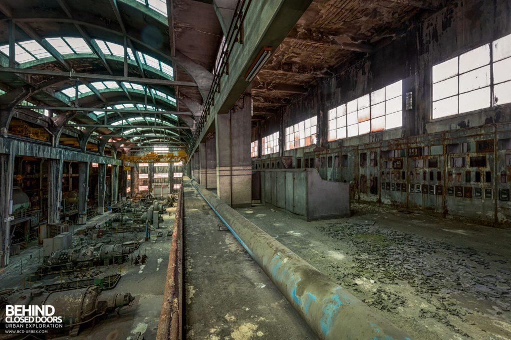 Italian Power Plant - The control room overlooks the turbine hall