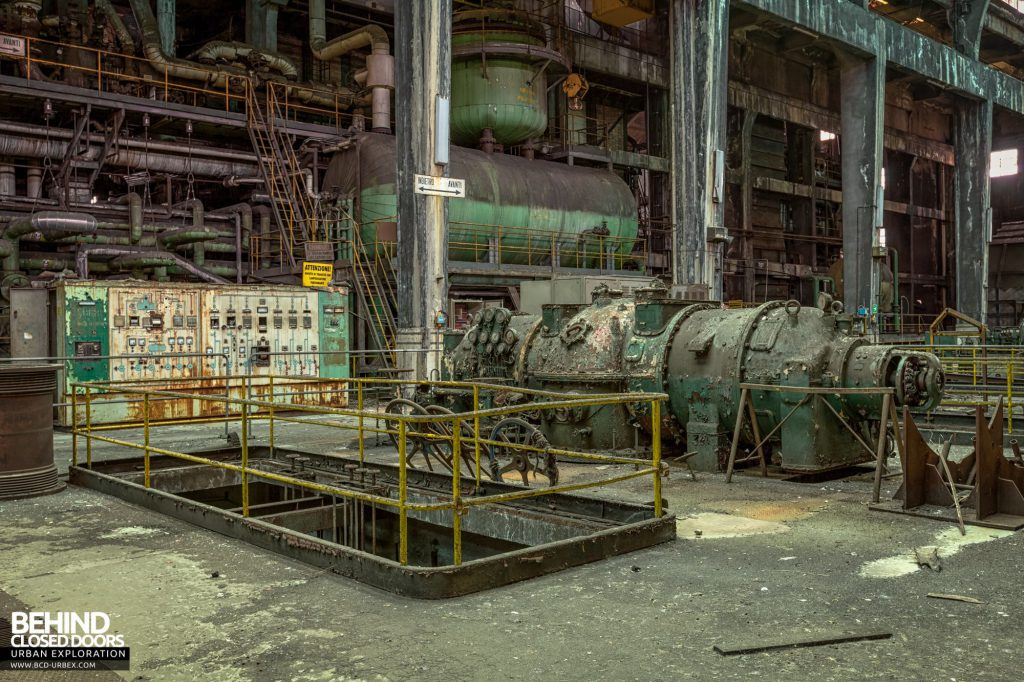 Italian Power Plant - In the centre there were three Ansaldo turbo-generators