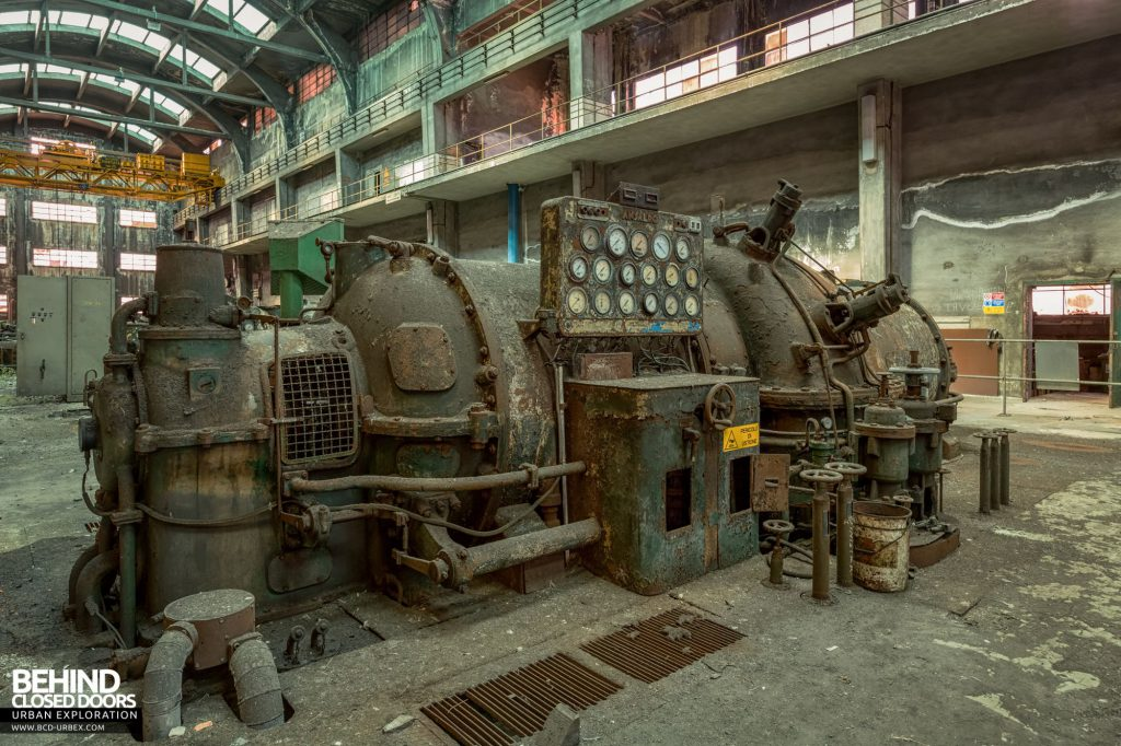 Italian Power Plant - One of the three Ansaldo turbo-generators