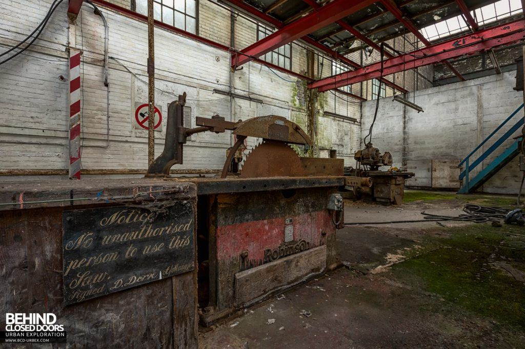 Locomotive Shed and workshops - Saw with old signage