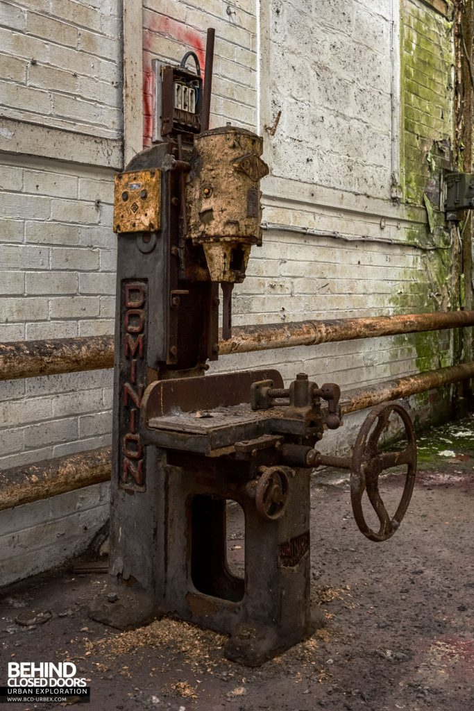 Locomotive Shed and workshops - Dominion drill press