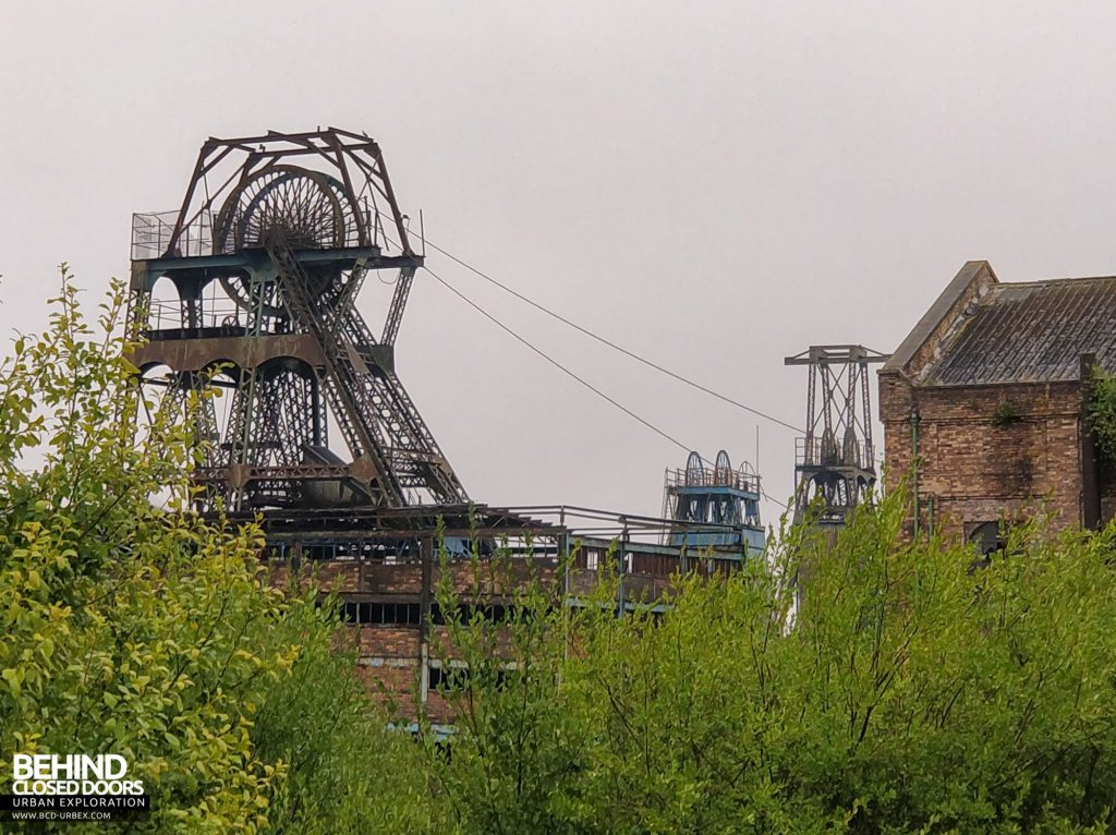 Chatterley Whitfield Colliery - Hesketh, Platt and Institute headstocks