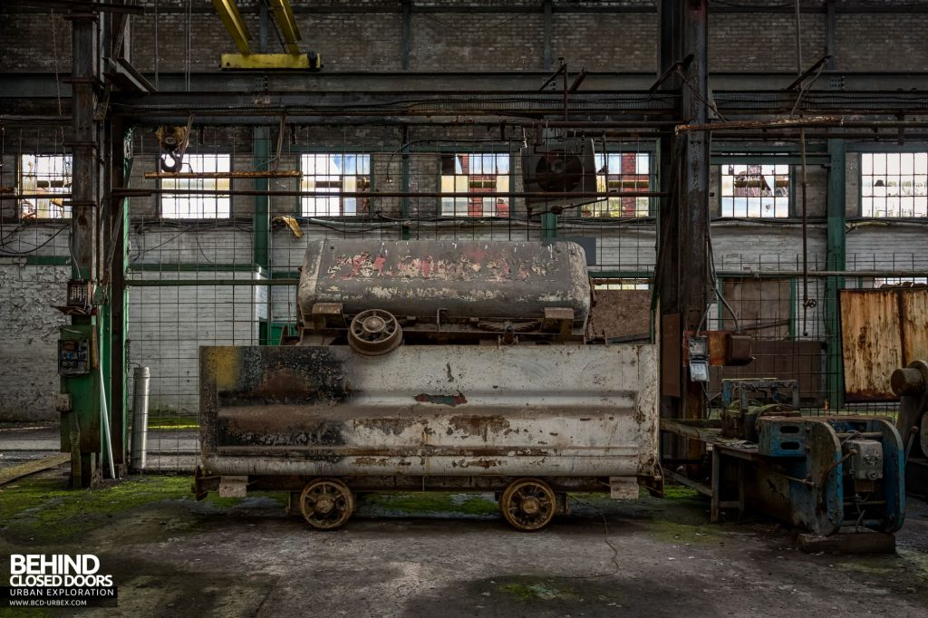 Locomotive Shed and workshops - Some old wagons piled up