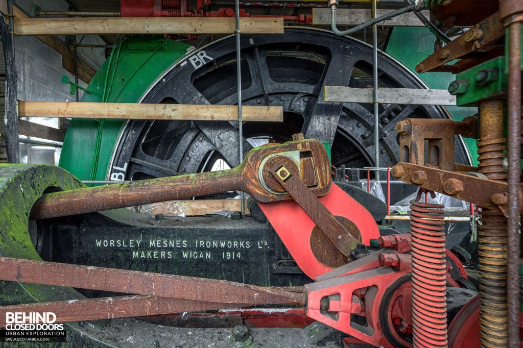 Hesketh Winding House - The huge flywheel in the steam winder
