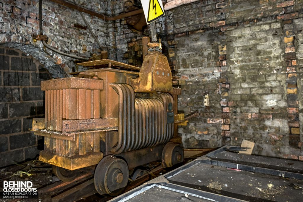 Hesketh Winding House - This old rail-mounted transformer was tucked away in the darkness