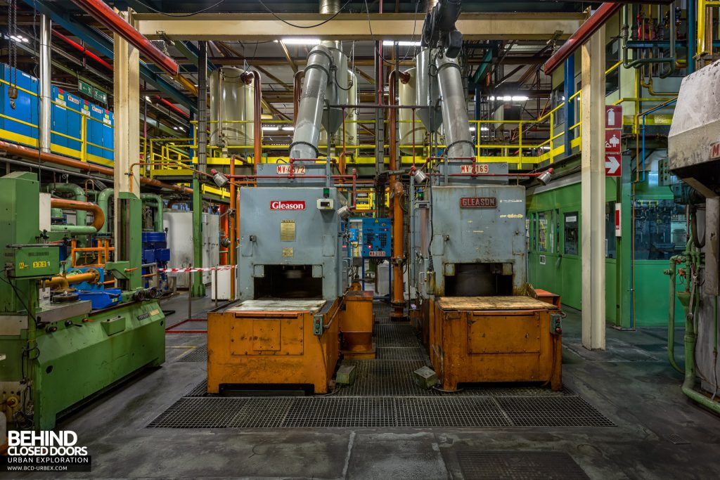 Caterpillar, Gosselies - Parts machining