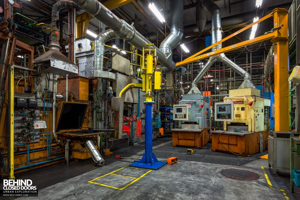Caterpillar, Gosselies - Furnaces and machinery