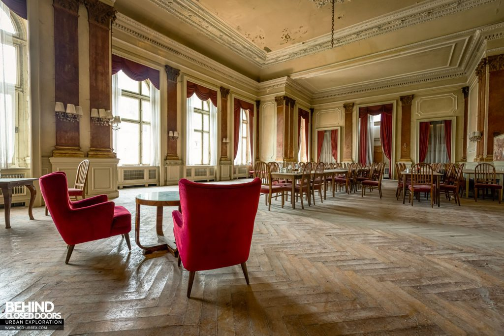 Grand Hotel Straubinger, Austria - Furniture remained in the ballroom