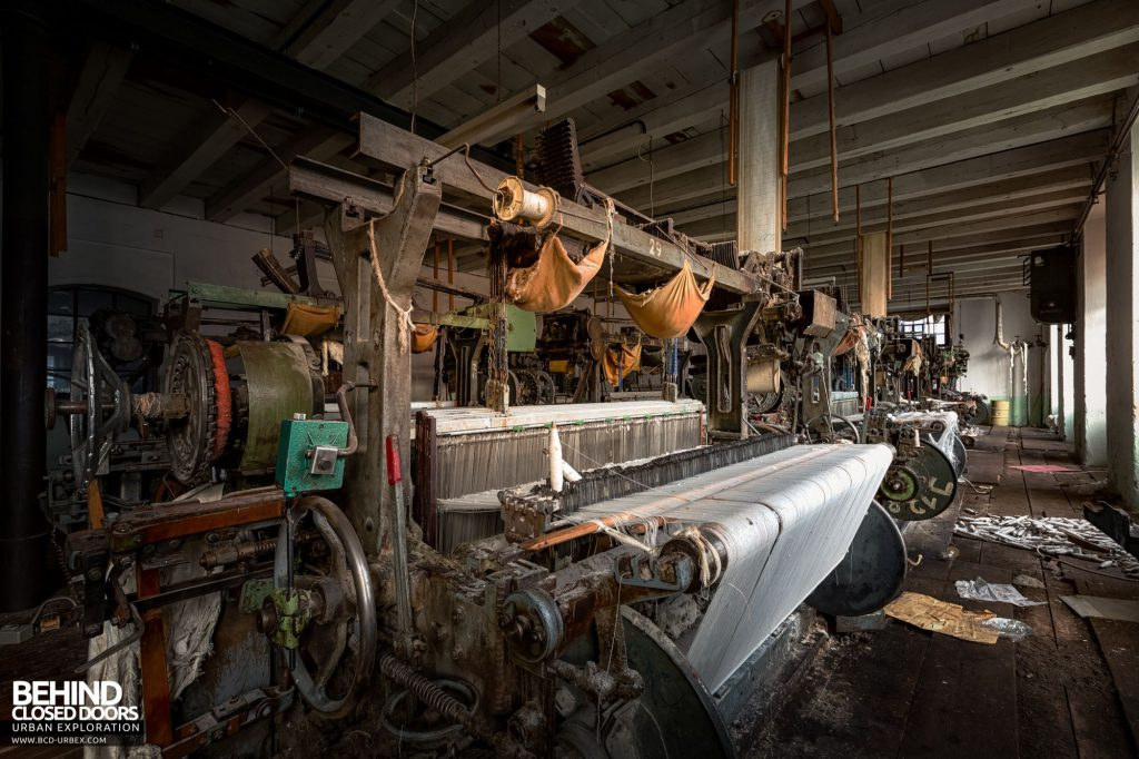Anderl Textile Mill - Many of the machines still contain the material they were producing