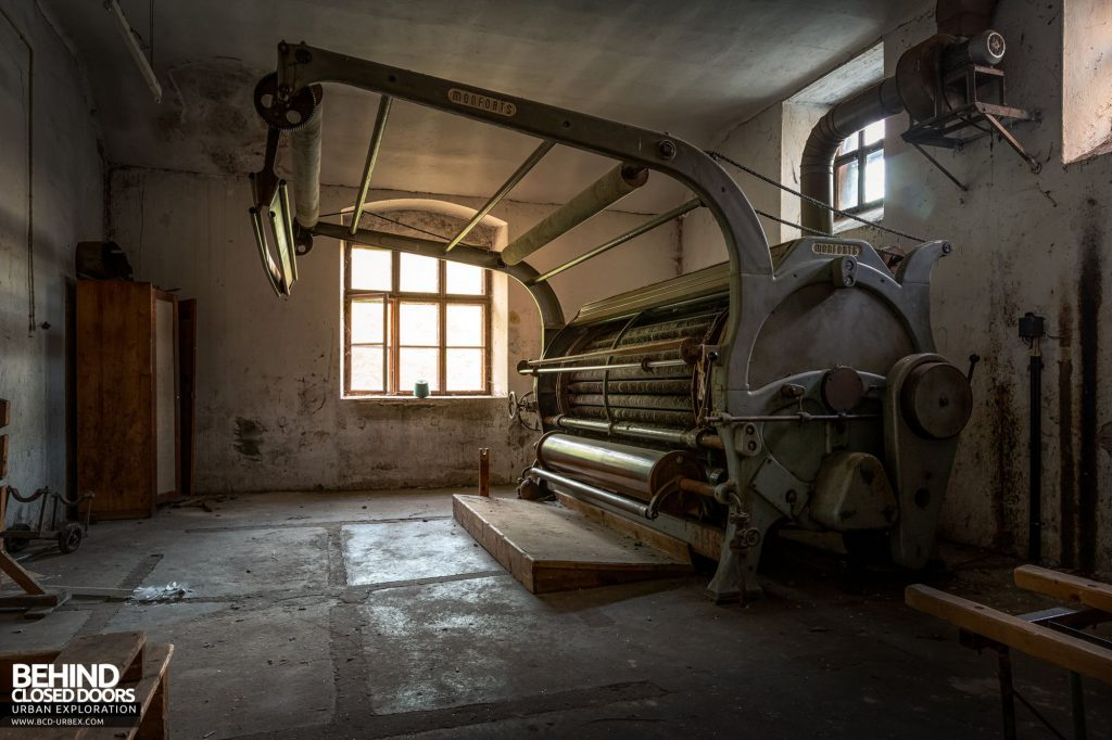 Anderl Textile Mill - This Monforts machine had a room all to itself