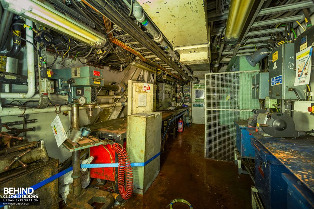 Brent Delta - Heading below deck we find a workshop