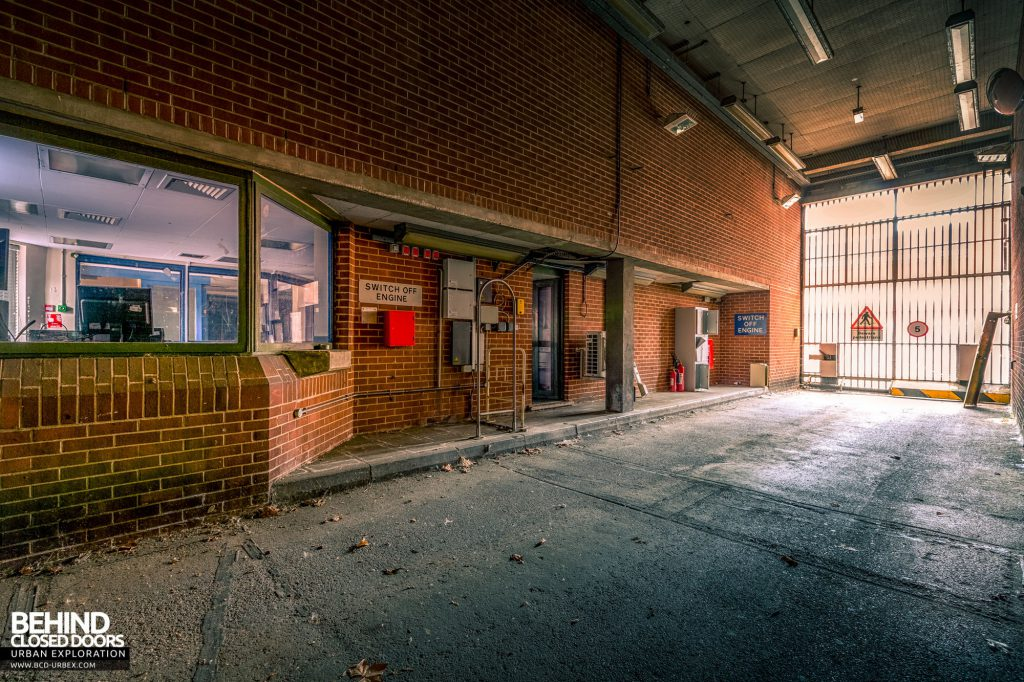 Holloway Prison - Prisoner unloading area