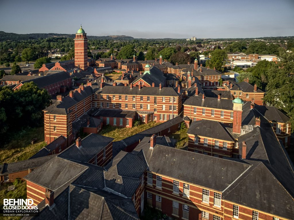 Whitchurch Hospital - View from the west over the wards