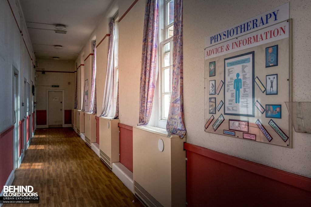 Whitchurch Hospital - Corridor in the physiotherapy ward
