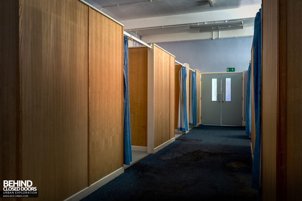 Whitchurch Hospital - A corridor of partitioned cubicles