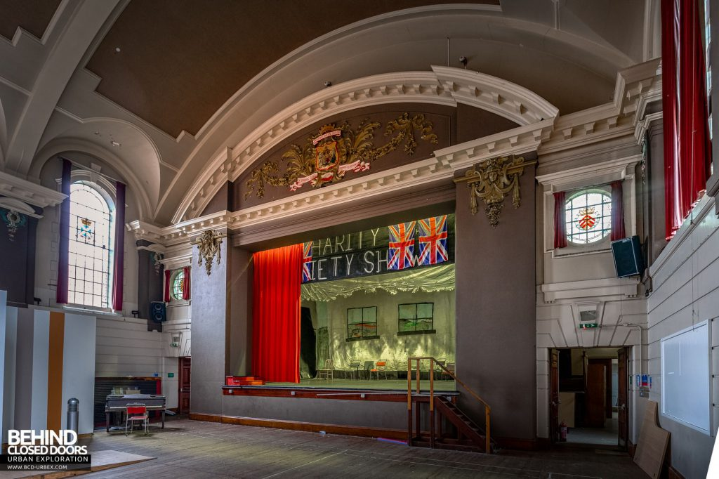 Whitchurch Hospital - The hall's stage
