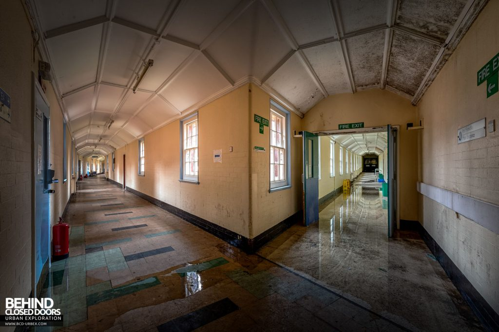 Whitchurch Hospital - The main corridor and a split leading elsewhere