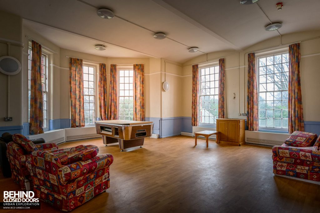 Whitchurch Hospital - Day room with pool table