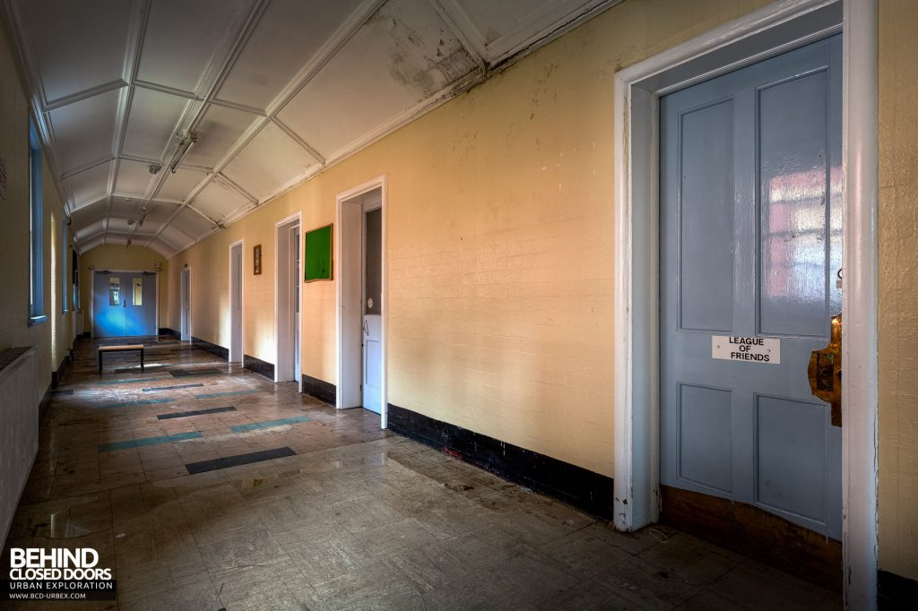 Whitchurch Hospital - Corridor of various hospital services